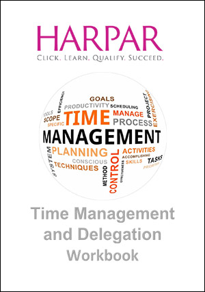 Harper time management and delegation workbook