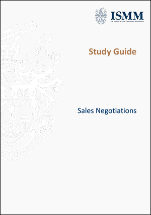 ISMM Study Guide-Sales-Negotiations