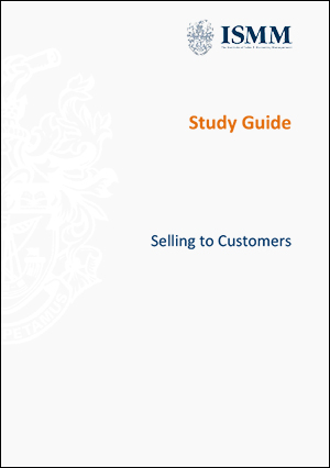 ISMM- Study Guide-Selling-to-Customers